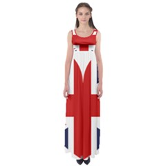 Uk Flag United Kingdom Empire Waist Maxi Dress