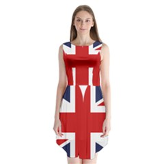 Uk Flag United Kingdom Sleeveless Chiffon Dress