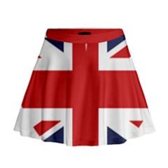 Uk Flag United Kingdom Mini Flare Skirt