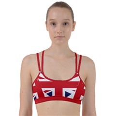 Uk Flag United Kingdom Line Them Up Sports Bra