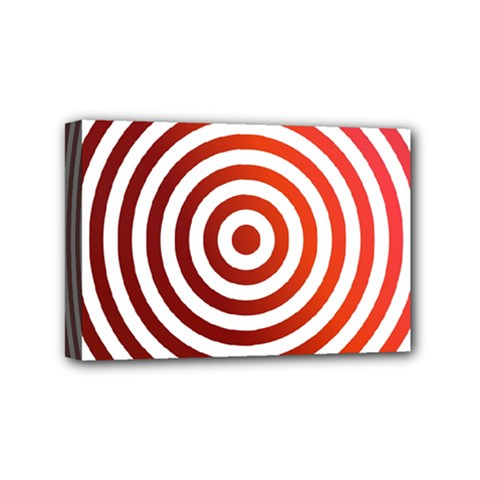 Concentric Red Rings Background Mini Canvas 6  X 4  by Nexatart