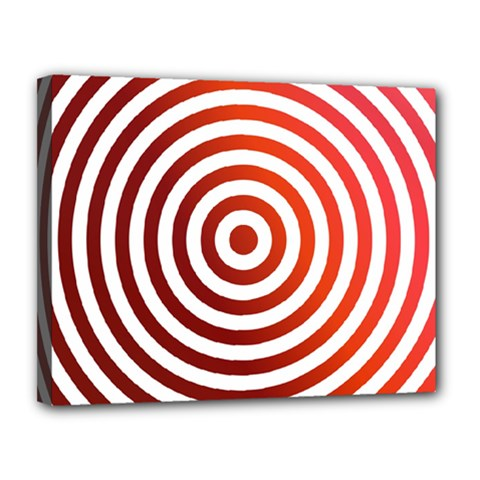 Concentric Red Rings Background Canvas 14  X 11  by Nexatart
