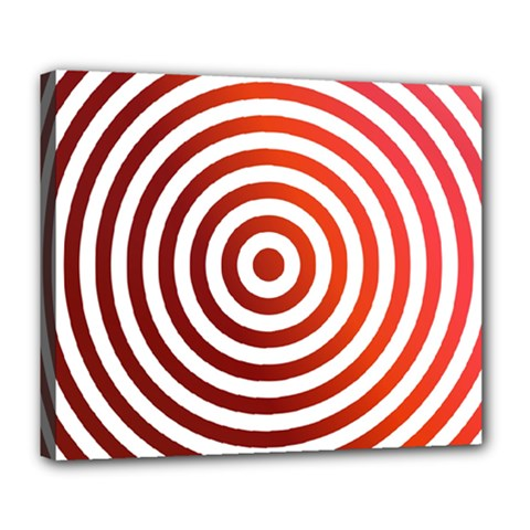 Concentric Red Rings Background Deluxe Canvas 24  X 20