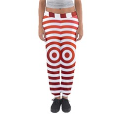 Concentric Red Rings Background Women s Jogger Sweatpants by Nexatart