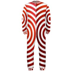 Concentric Red Rings Background Onepiece Jumpsuit (men)