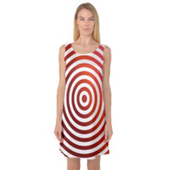Concentric Red Rings Background Sleeveless Satin Nightdress