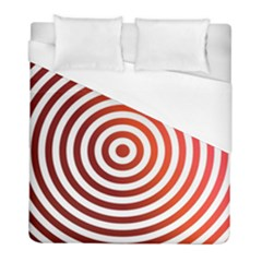 Concentric Red Rings Background Duvet Cover (full/ Double Size) by Nexatart