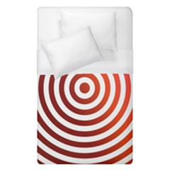 Concentric Red Rings Background Duvet Cover (single Size) by Nexatart