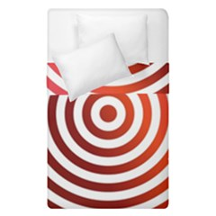 Concentric Red Rings Background Duvet Cover Double Side (single Size)