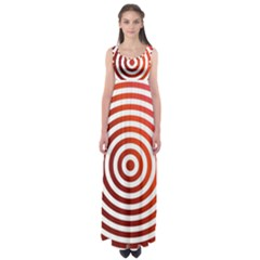 Concentric Red Rings Background Empire Waist Maxi Dress