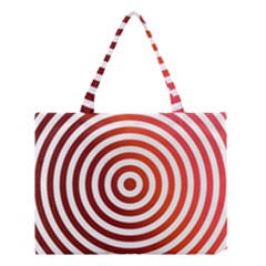 Concentric Red Rings Background Medium Tote Bag by Nexatart