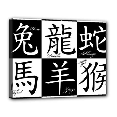 Chinese Signs Of The Zodiac Canvas 14  X 11  by Nexatart