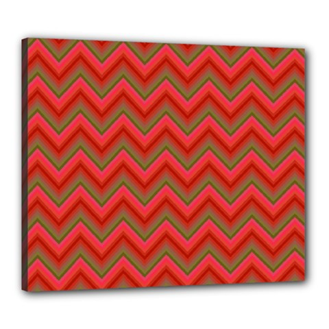 Background Retro Red Zigzag Canvas 24  X 20