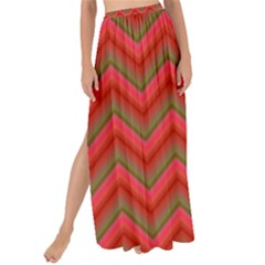 Background Retro Red Zigzag Maxi Chiffon Tie Up Sarong