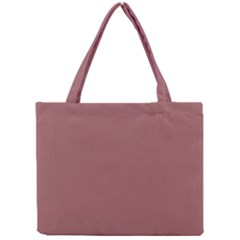 Blush Gold Coppery Pink Solid Color Mini Tote Bag by PodArtist