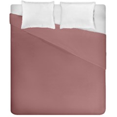 Blush Gold Coppery Pink Solid Color Duvet Cover Double Side (california King Size) by PodArtist
