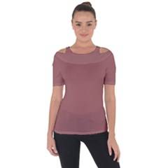 Blush Gold Coppery Pink Solid Color Short Sleeve Top