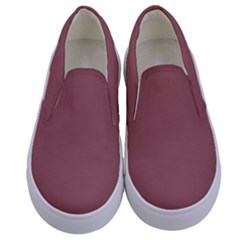 Blush Gold Coppery Pink Solid Color Kids  Canvas Slip Ons