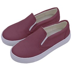 Blush Gold Coppery Pink Solid Color Kids  Canvas Slip Ons by PodArtist