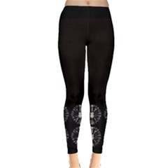 Black Circles Tie Dye Leggings