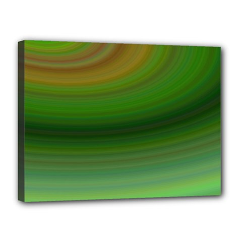 Green Background Elliptical Canvas 16  X 12  by Nexatart