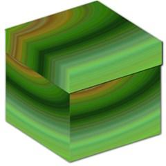 Green Background Elliptical Storage Stool 12