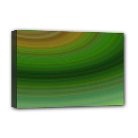 Green Background Elliptical Deluxe Canvas 18  X 12
