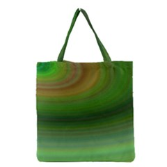 Green Background Elliptical Grocery Tote Bag by Nexatart