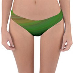 Green Background Elliptical Reversible Hipster Bikini Bottoms