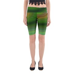 Green Background Elliptical Yoga Cropped Leggings