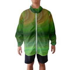 Green Background Elliptical Wind Breaker (kids)