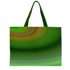 Green Background Elliptical Zipper Large Tote Bag