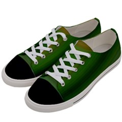 Green Background Elliptical Women s Low Top Canvas Sneakers by Nexatart
