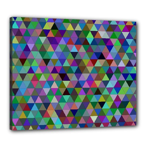 Triangle Tile Mosaic Pattern Canvas 24  X 20