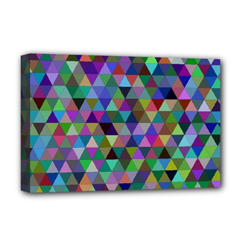 Triangle Tile Mosaic Pattern Deluxe Canvas 18  X 12   by Nexatart