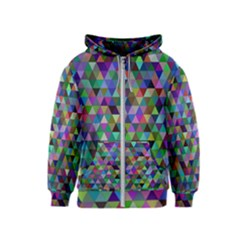Triangle Tile Mosaic Pattern Kids  Zipper Hoodie