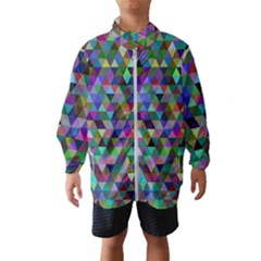 Triangle Tile Mosaic Pattern Wind Breaker (kids)