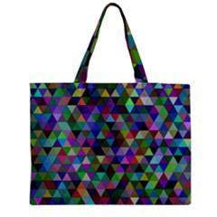 Triangle Tile Mosaic Pattern Medium Tote Bag