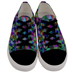 Triangle Tile Mosaic Pattern Men s Low Top Canvas Sneakers