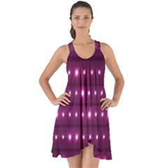 Galaxy Stripes Pattern Show Some Back Chiffon Dress