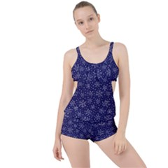 Pattern Circle Multi Color Boyleg Tankini Set