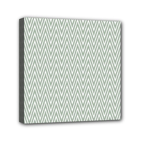 Vintage Pattern Chevron Mini Canvas 6  X 6
