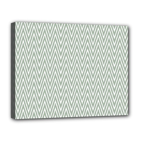 Vintage Pattern Chevron Canvas 14  X 11  by Nexatart