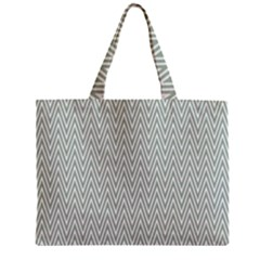 Vintage Pattern Chevron Zipper Mini Tote Bag by Nexatart