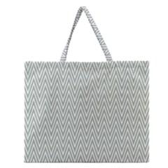 Vintage Pattern Chevron Zipper Large Tote Bag