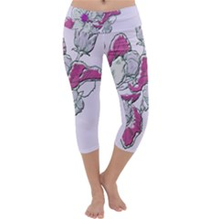 Bouquet Flowers Plant Purple Capri Yoga Leggings by Nexatart