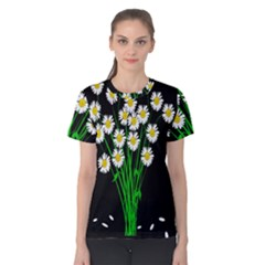 Bouquet Geese Flower Plant Blossom Women s Cotton Tee