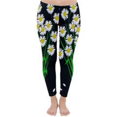 Bouquet Geese Flower Plant Blossom Classic Winter Leggings