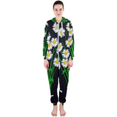 Bouquet Geese Flower Plant Blossom Hooded Jumpsuit (ladies)