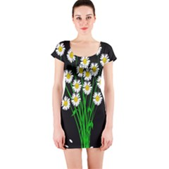 Bouquet Geese Flower Plant Blossom Short Sleeve Bodycon Dress